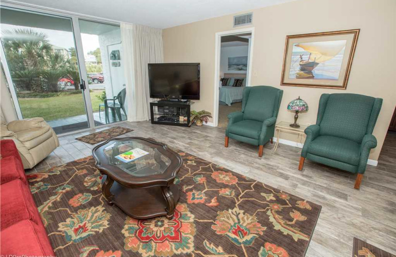 Living room at Holiday Isle Properties - Dolphin Point 103B.