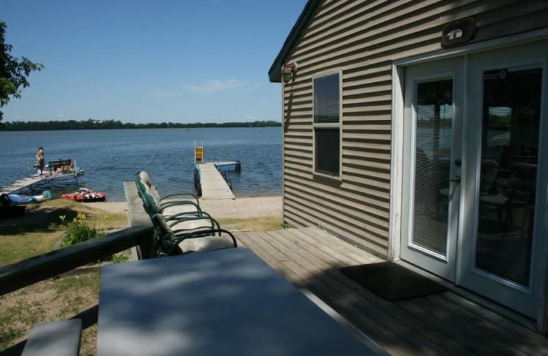 Cabin exterior at Ten Mile Lake Resort.