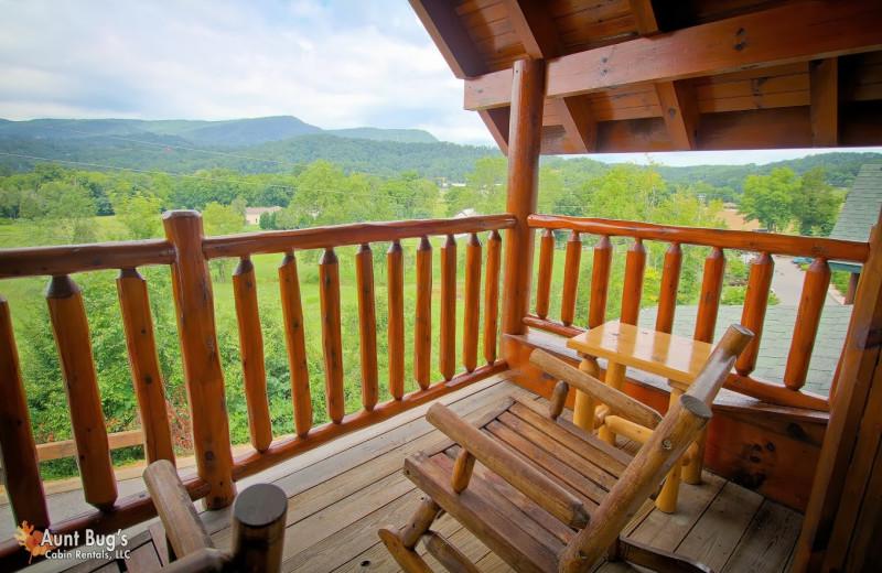 Deck view at Aunt Bug's Cabin Rentals, LLC.