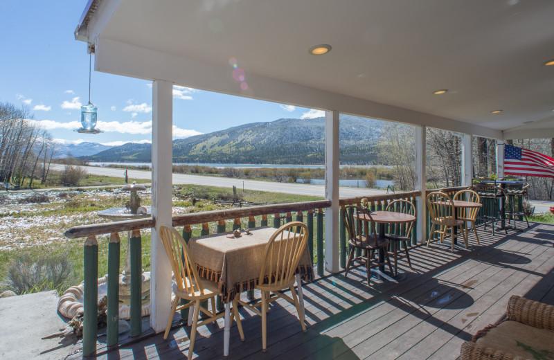 Porch at Twin Lakes Roadlodge.