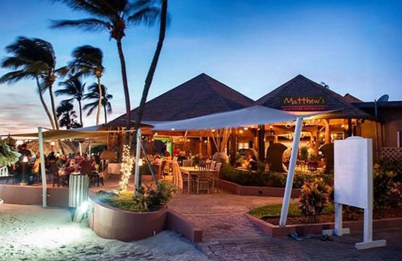 Dining at Casa del Mar Beach Resort.