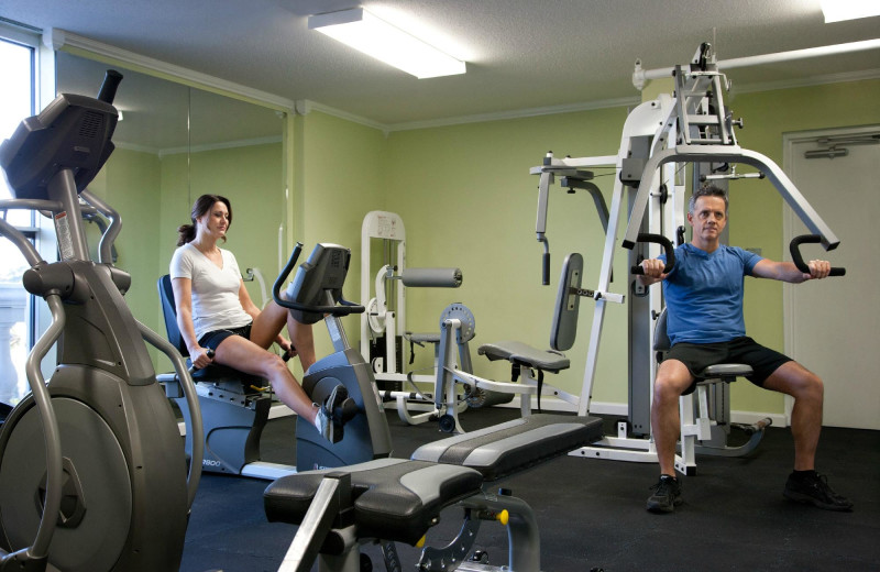 Fitness room at Paradise Resort.