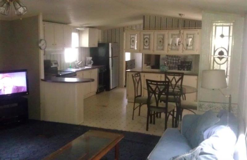 Guest kitchen at Anchor Inn Marina & Resort.
