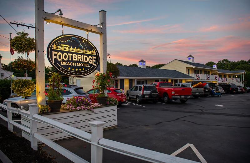 Exterior view of Footbridge Beach Motel.