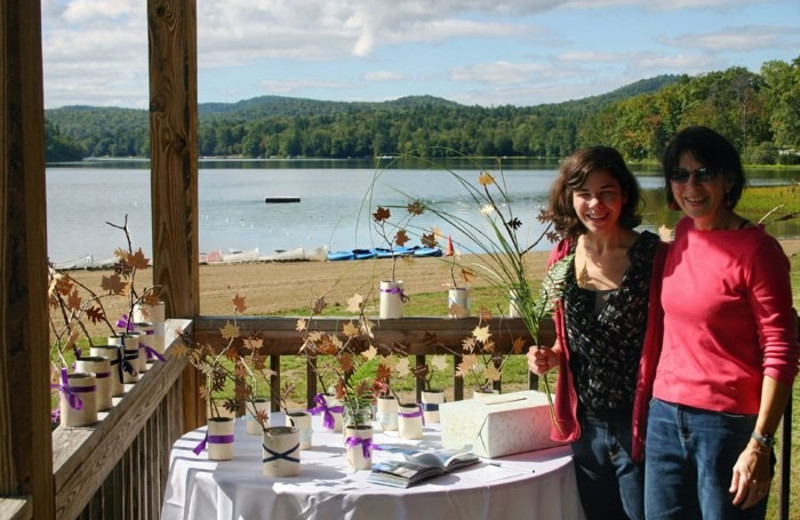 Wedding reception at Twin Pines Resort.