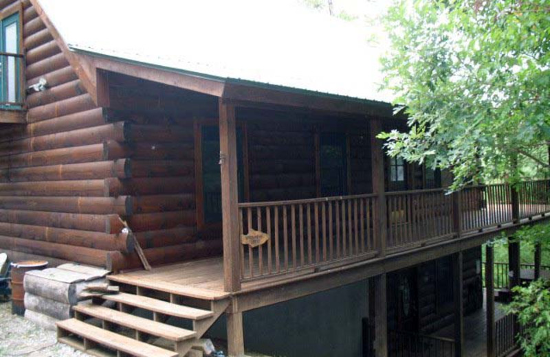 Cabin deck at Black Bear Cabin Rentals.
