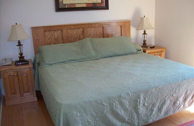 Rental bedroom at Oak Square Condos.