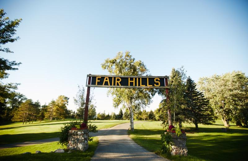 Grounds at Fair Hills Resort.
