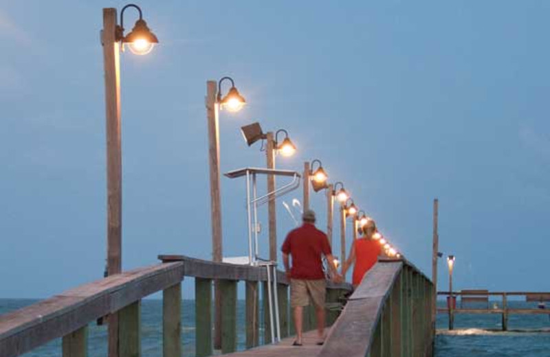 Walking on the Dock at Kontiki Beach Resorts Condos