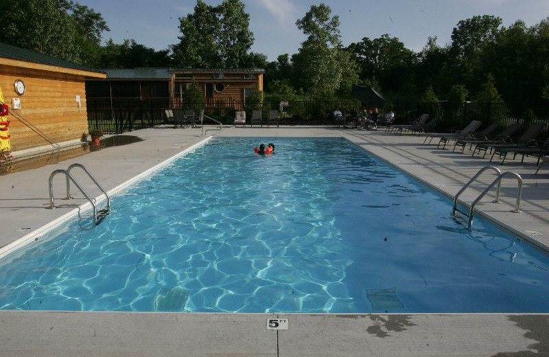 Outdoor pool at Lakeside Cabins Resort.