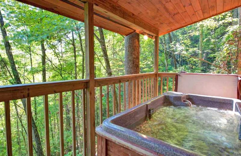 Rental hot tub at Vacation Rental Pros - Gatlinburg.