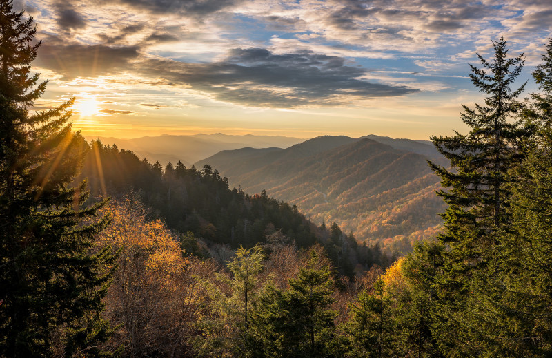 Mountains at Caryonah Hunting Lodge.