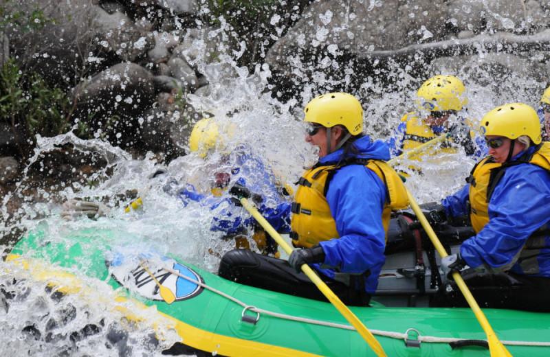Rafting at Tumbling River Ranch.