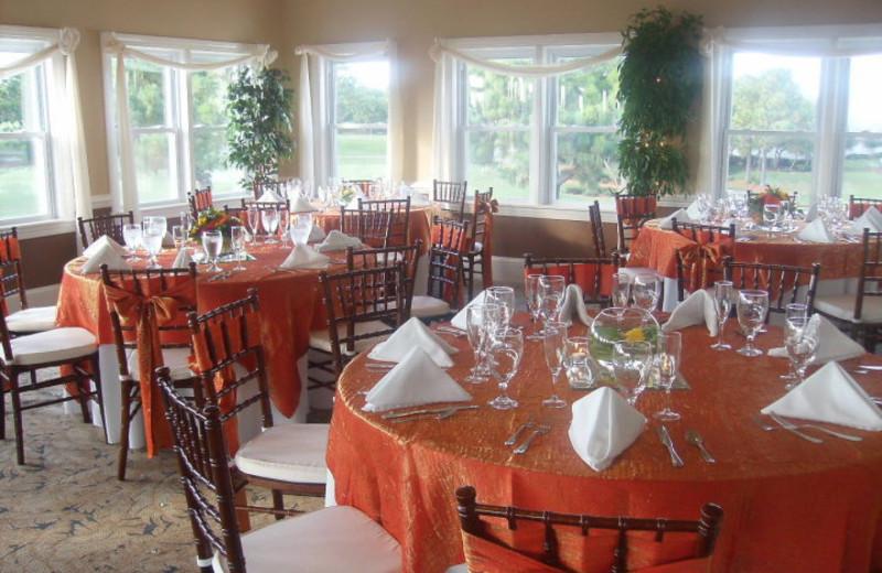 Wedding reception at Beau Rivage Resort.