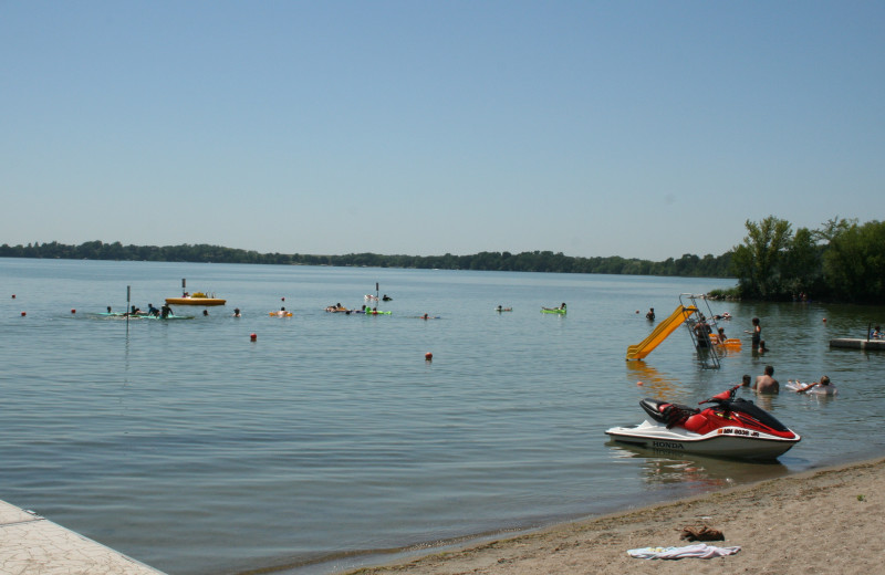 Beach at Ten Mile Lake Resort.