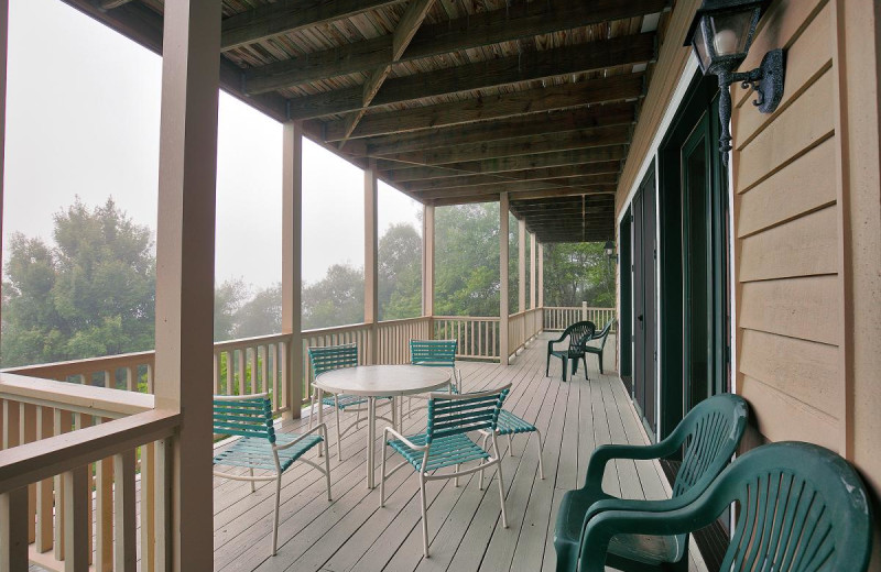 Rental deck at Chambers Realty & Vacation Rentals.