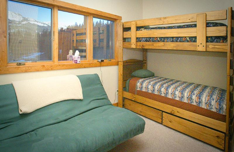 Guest bedroom at Bridger Vista Lodge.