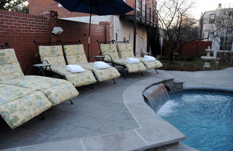 Pool chairs at Grace Manor Inn.