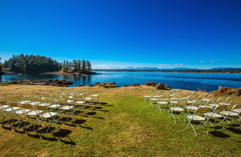 Wedding view at April Point Lodge and Fishing Resort.