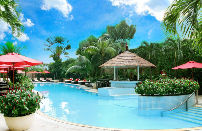 Outdoor pool at Caravelle Hotel.
