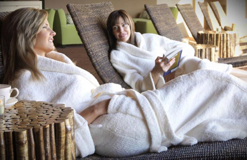 Spa lounge at Red Mountain Resort.