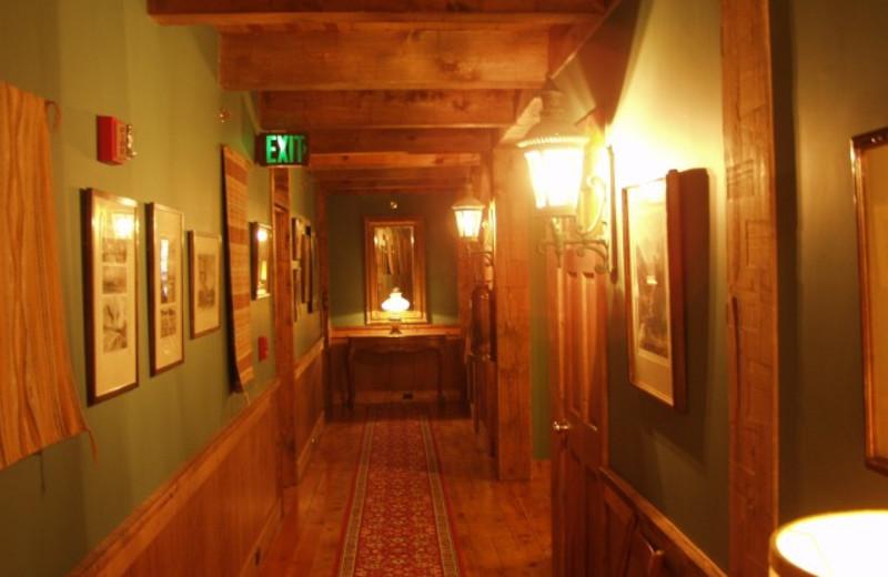 Lodge hallway at The Lodge at Red River Ranch.