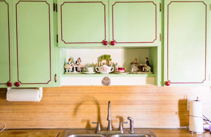 Kitchen at Antique Rose Inn.