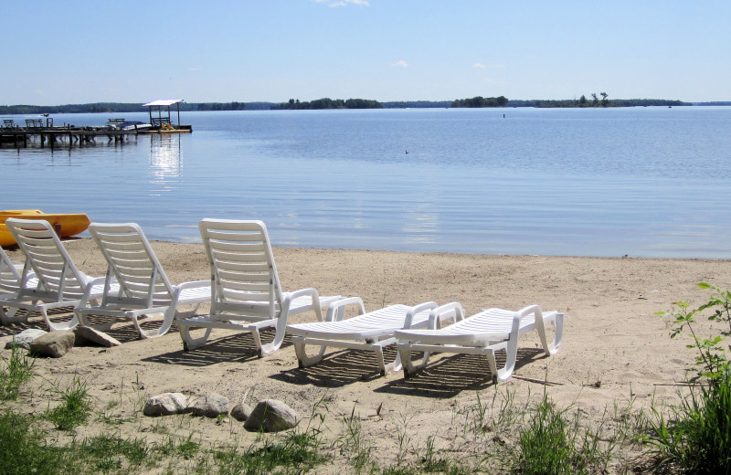 Relax at the beach at Moosehorn Resort!
