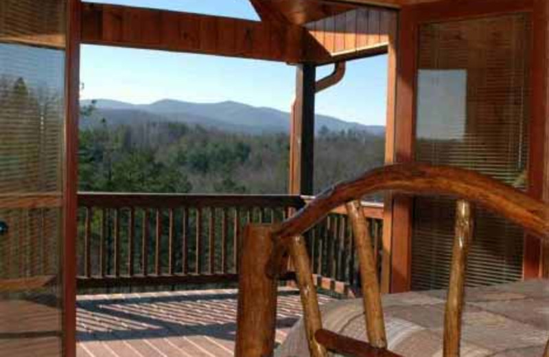 Porch View at JP Ridgeland Cabin Rentals