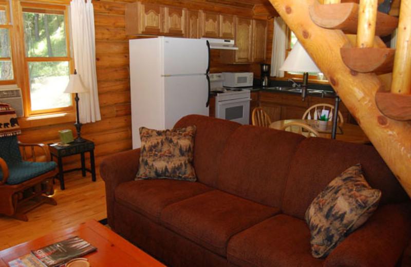 Cabin interior at Newton Fork Ranch.
