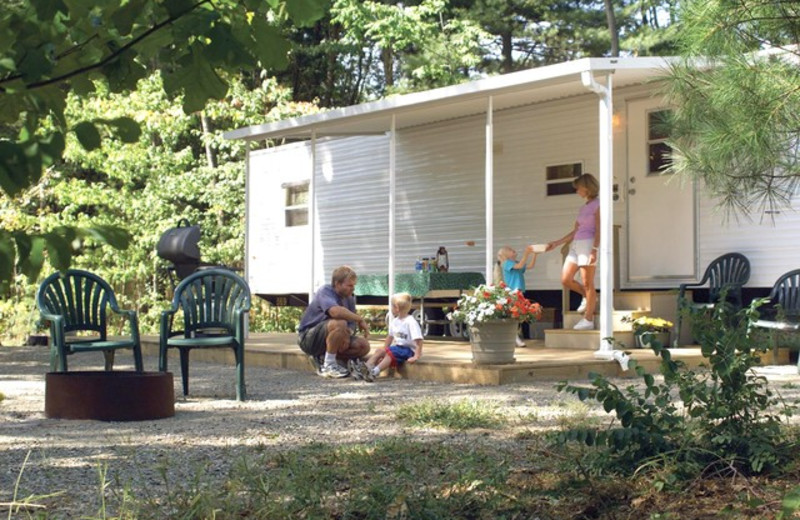 Family lodging at Lake George RV Park.