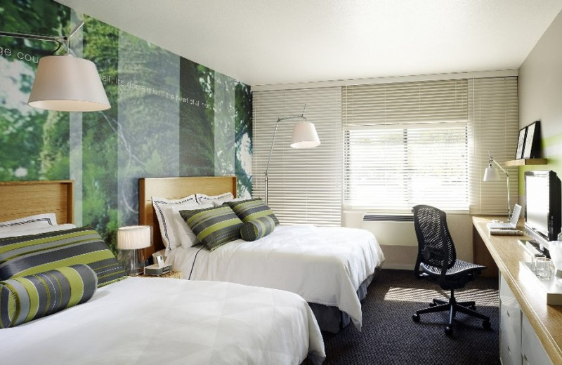 Guest room at The Domain Hotel.