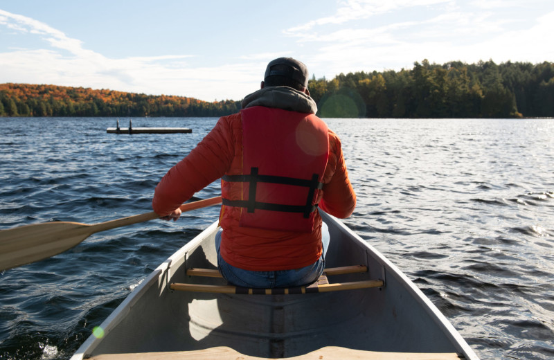 Canoeing at Bartlett Lodge.