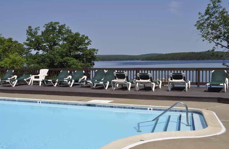 Outdoor pool at Ehrhardt's Waterfront Resort.