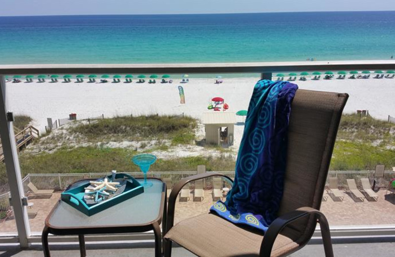 Rental balcony at Sterling Sands Condominiums.
