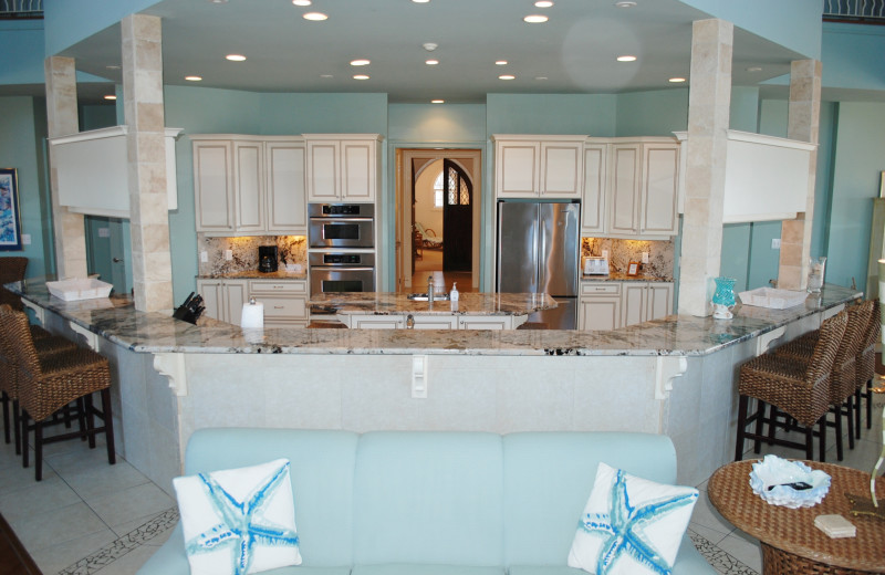 Rental kitchen at Gulf Shores Vacation Rentals.