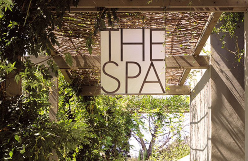 Spa entrance at Hotel Healdsburg.