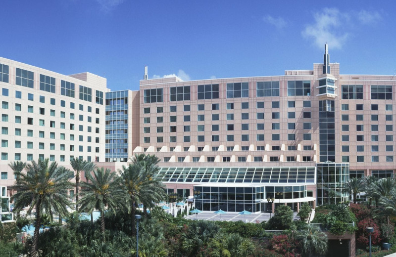 Exterior view of Moody Gardens Hotel Spa & Convention Center.