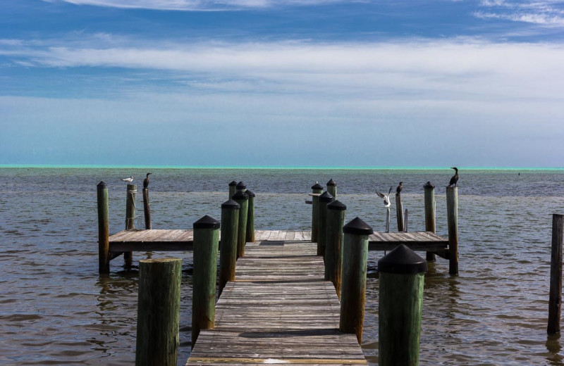 Dock at Florida Keys Vacation Rentals.