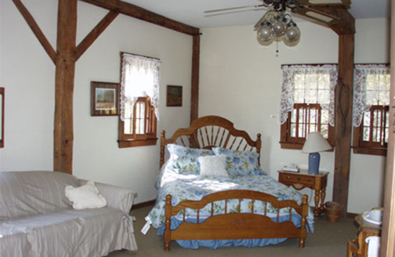 Guest room at Osceola Mill Country Inn.