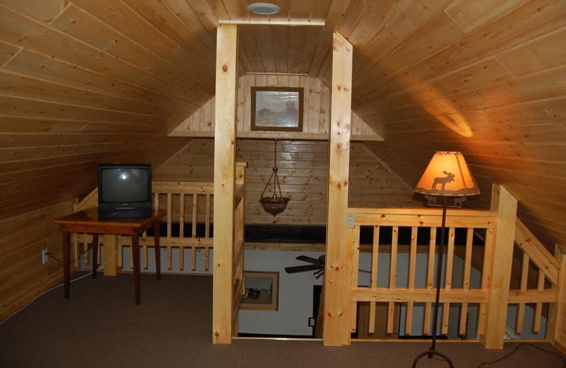 Guest loft at The Elms Waterfront Cottages.