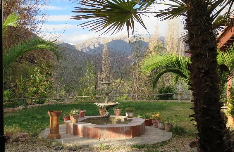 Fountain at Hacienda Los Andes.