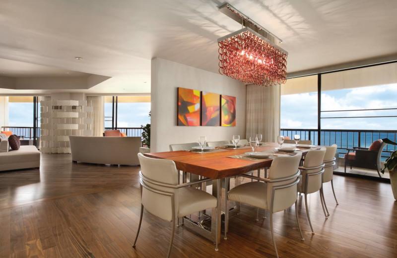 Presidential suite dining area at Hyatt Regency Waikiki Resort & Spa.