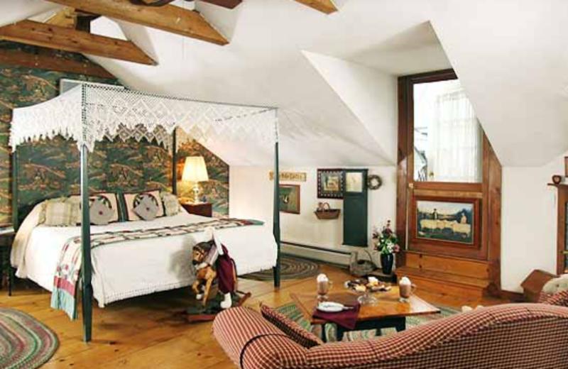 Loft bed view at Rabbit Hill Inn.