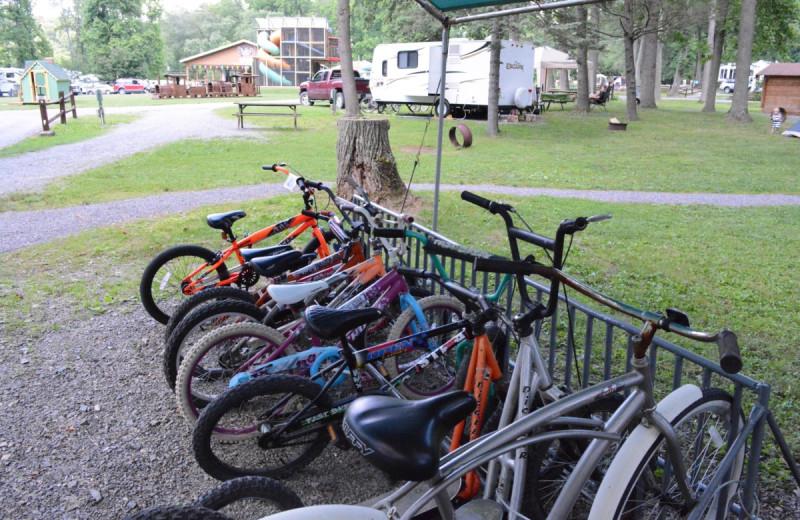 Bikes at Yogi at Shangri-La - Jellystone Park.