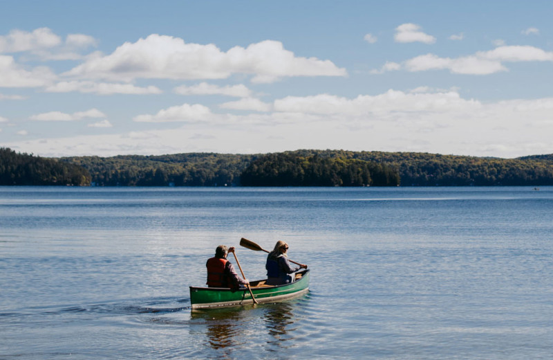 Canoeing at Port Cunnington Lodge.