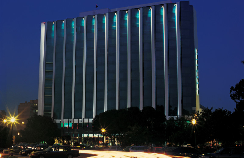 Exterior view of Hotel Los Delfines.