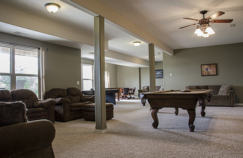 Rental game room at Branson Vacation Houses.