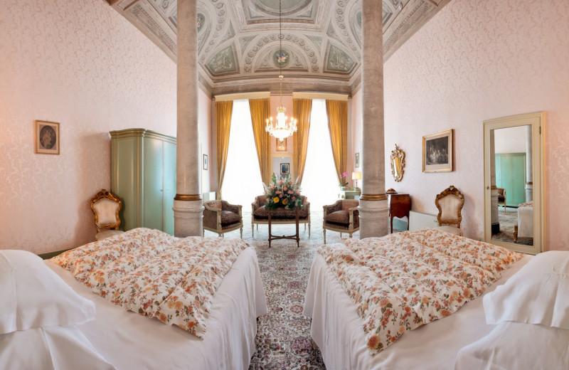 Guest room at Grand Hotel Villa Serbelloni.
