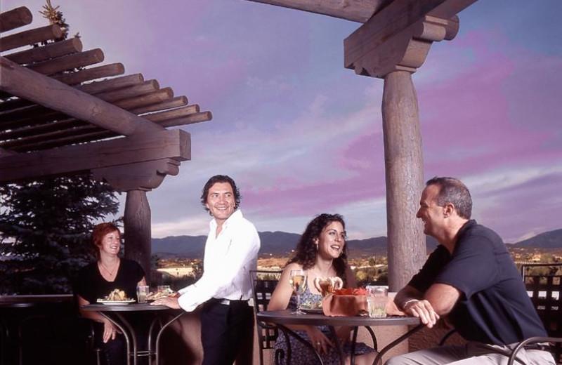 Outdoor patio at The Lodge at Santa Fe.